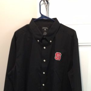 Black NC State Wolfpack LS Work Button Down shirt